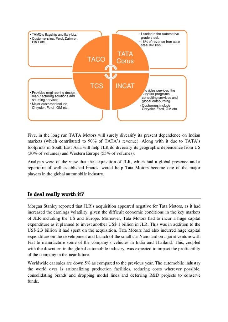 tata tetley merger event study