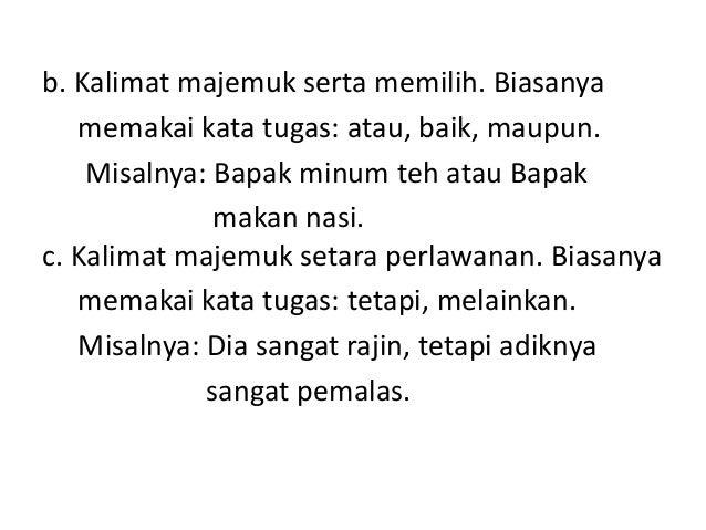 BAHASA INDONESIA - Tata Kalimat