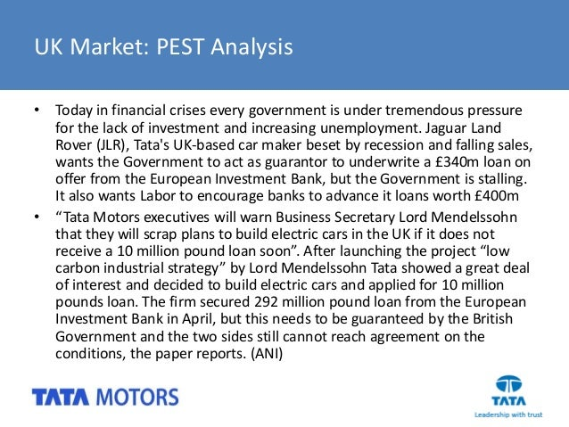 tata nano pest analysis Tata motors case study analysis 4screening criteria suggested for tata nano's ims process tata motors can meet or exceed the quality.