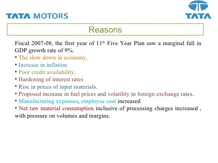 Analysis of capital structure of tata motors