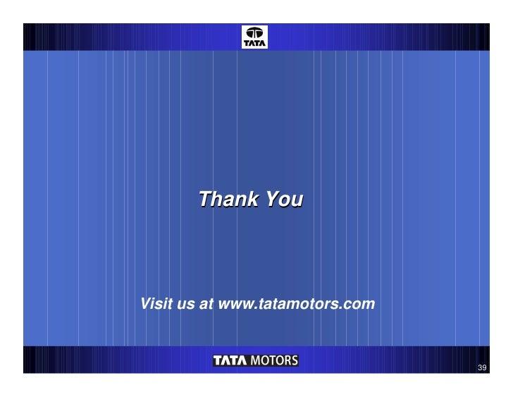 Tata Motors - Speed Breakers Galore