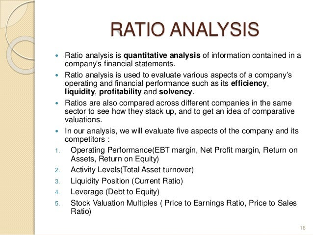 Ratio analysis on tata motors