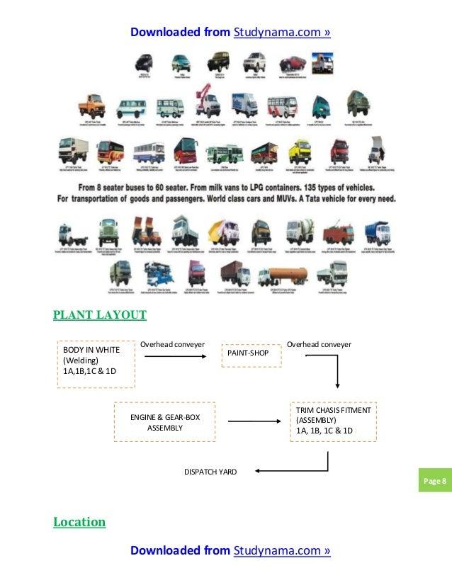 Tata motors pantnagar - mechanical engg  summer industrial training r…