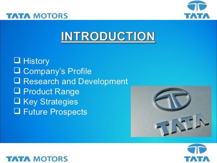 Tata motors limited company profile