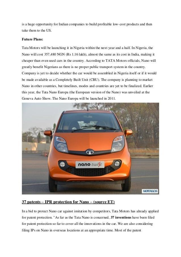 Cost Of Tata Cars In Nigeria