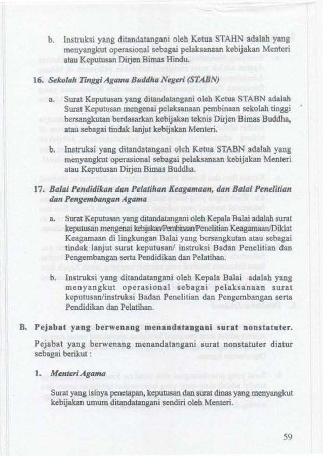 Tata Persuratan Dinas Di Lingkungan Departemen Agama 2011
