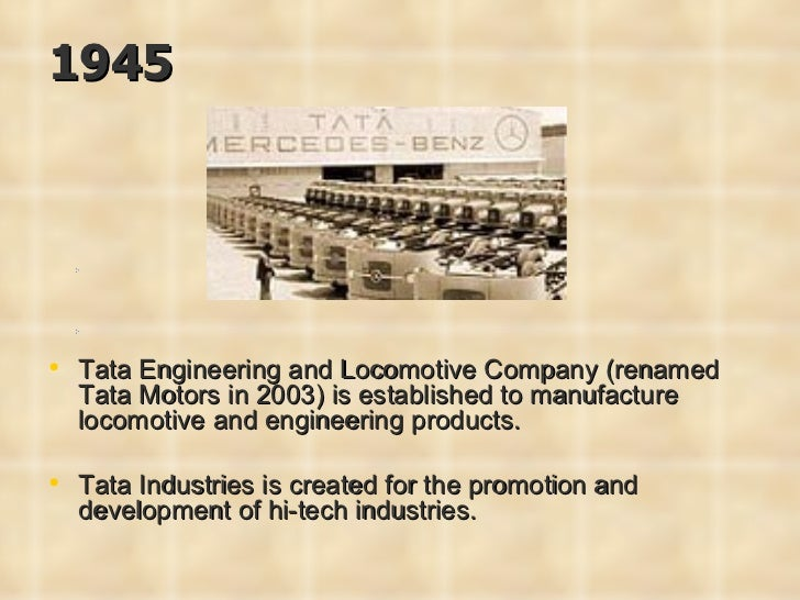 a company profile the tata engineering locomotive company 2003-3-23  tata engineering and locomotive company ltd  the fact that the tata group  the key factors impacting telco's future credit risk profile are: the company.