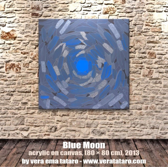 Blue moon - abstract acrylic painting