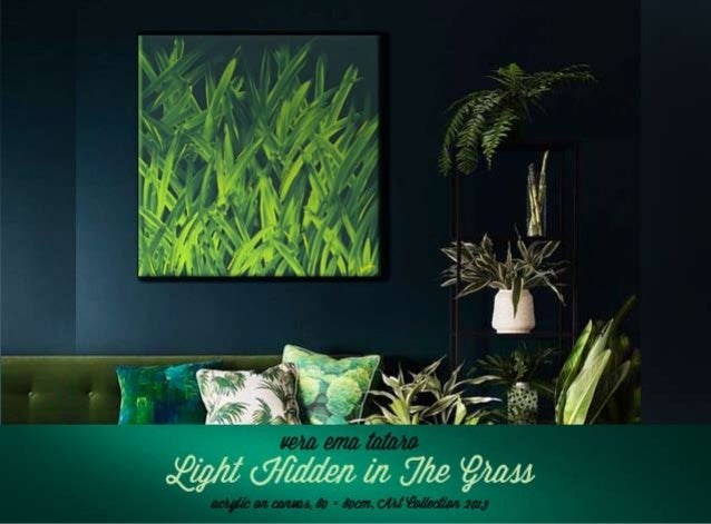 Light Hidden in The Grass - acrylic painting
