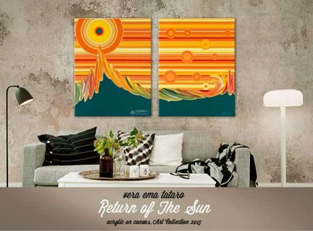 Return of The Sun - acrylic painting by Vera Ema Tataro