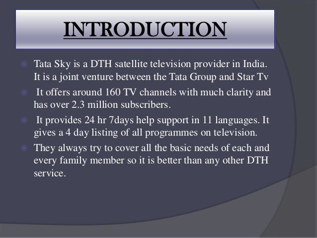 Advertising and sales promotion of tata sky