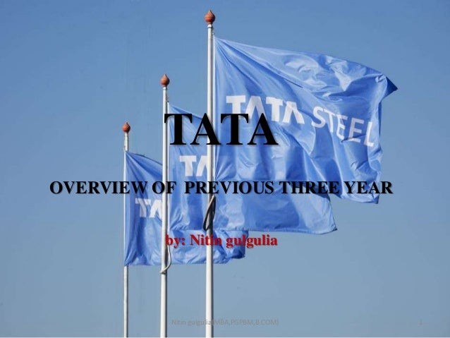 TATA OVERVIEW OF PREVIOUS THREE YEAR by: Nitin gulgulia 1Nitin gulgulia(MBA,PGPBM,B.COM)