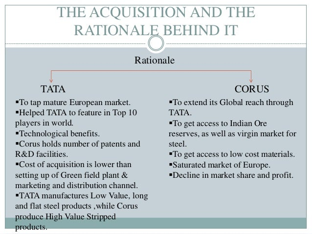 advantages and disadvantages of tata corus acquisition Advantage and disadvantage in city life category:  more and more pople want to live there because they see many advantages  strategy of tata corus acquisition.