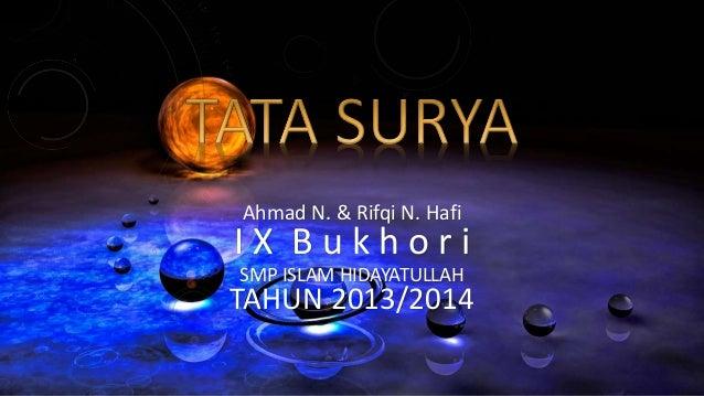 Ahmad N. & Rifqi N. Hafi  I X B u k h o r i  SMP ISLAM HIDAYATULLAH  TAHUN 2013/2014