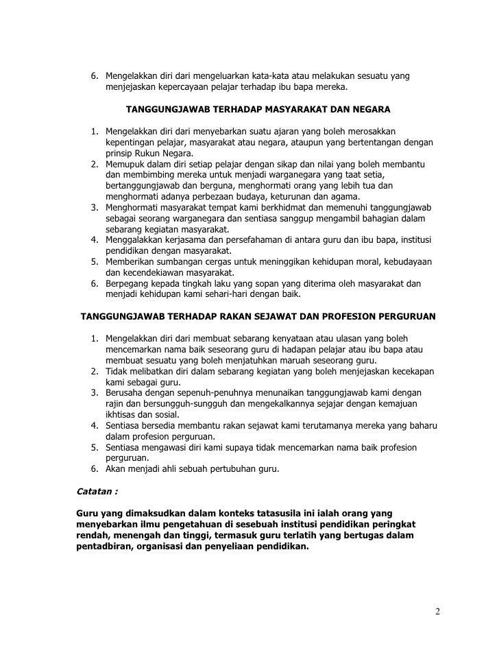 Tatasusila Profesion Perguruan Malaysia