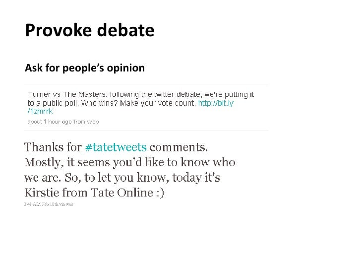 Provoke debate