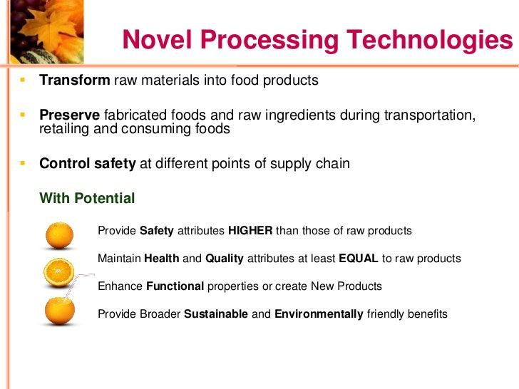 Novel Food Processing Technologies Health Canada