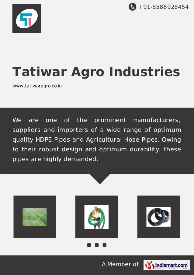 +91-8586928454 A Member of Tatiwar Agro Industries www.tatiwaragro.co.in We are one of the prominent manufacturers, suppli...