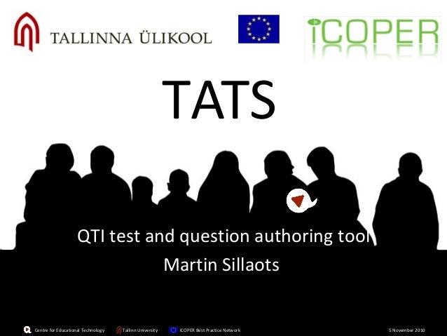 Centre for Educational Technology Tallinn University ICOPER Best Practice Network 5 November 2010Centre for Educational Te...