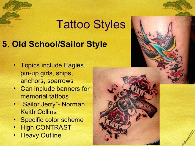 57d7a12d4 Tattoo Styles 5. Old School/Sailor ...