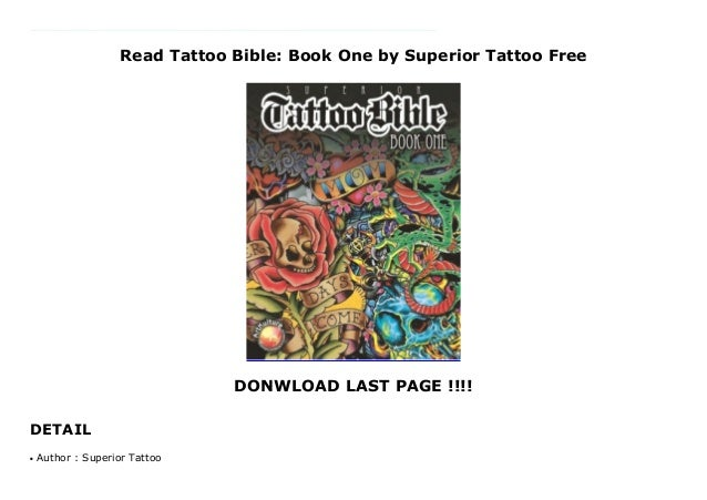 Read Tattoo Bible: Book One by Superior Tattoo Free
