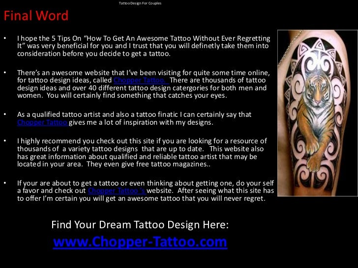 Tattoo design for couples