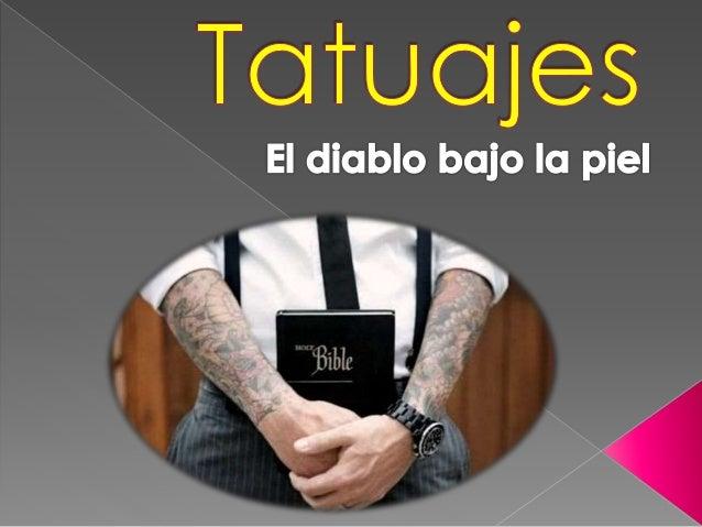 """""""No te hará incisiones en la carne... ni te hará tatuajes sobre la carne. Yo soy el"""