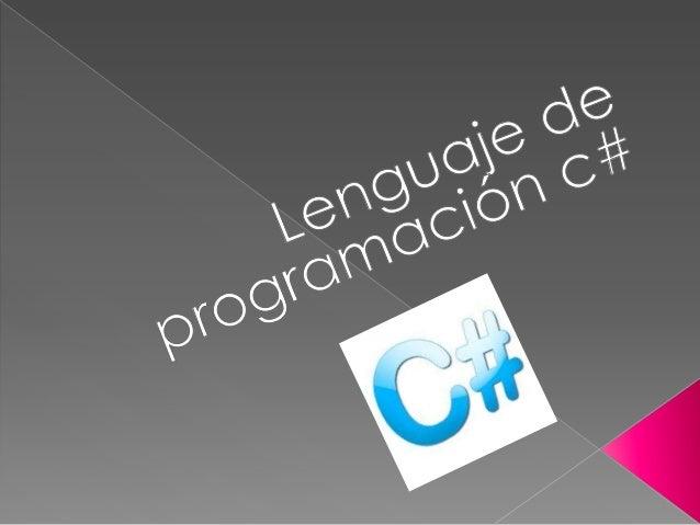   En junio de 2000, Microsoft libero el lenguaje llamado C#. El nuevo lenguaje estaba diseñado por Anders Hejlsberg ( cre...