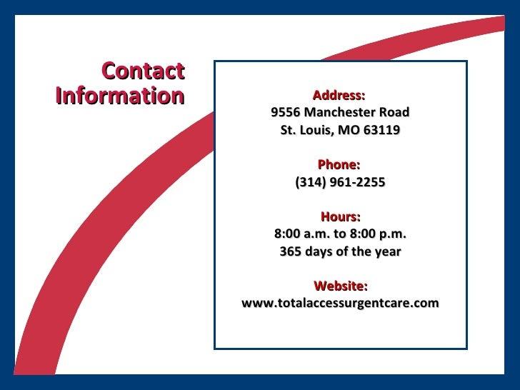 <ul><li>Address:   </li></ul><ul><li>9556 Manchester Road </li></ul><ul><li>St. Louis, MO 63119 </li></ul><ul><li>Phone:  ...