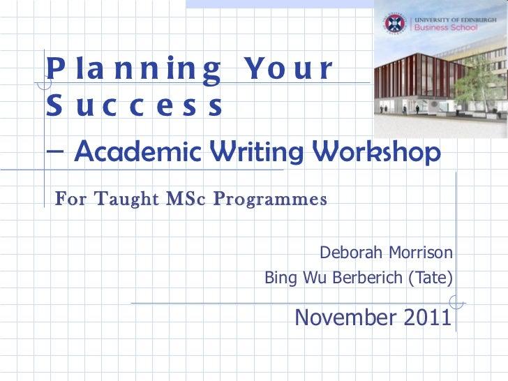 Writing an academic success plan form