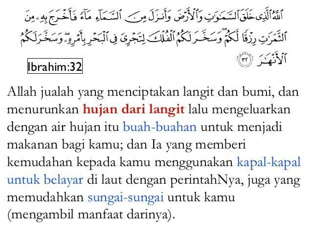 Fatir:3Wahai umat manusia, kenangkanlah nikmatAllah yang telah dikurniakanNya kepada kamu;tidak ada sama sekali yang menci...