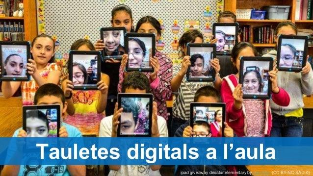 Dispositius mòbils a l'aula Tauletes digitals a l'aula ipad giveaway decatur elementary by Joe Duty (CC BY-NC-SA 2.0)