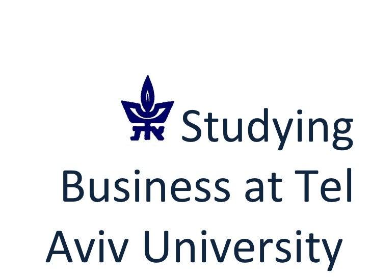Studying Business at Tel Aviv University
