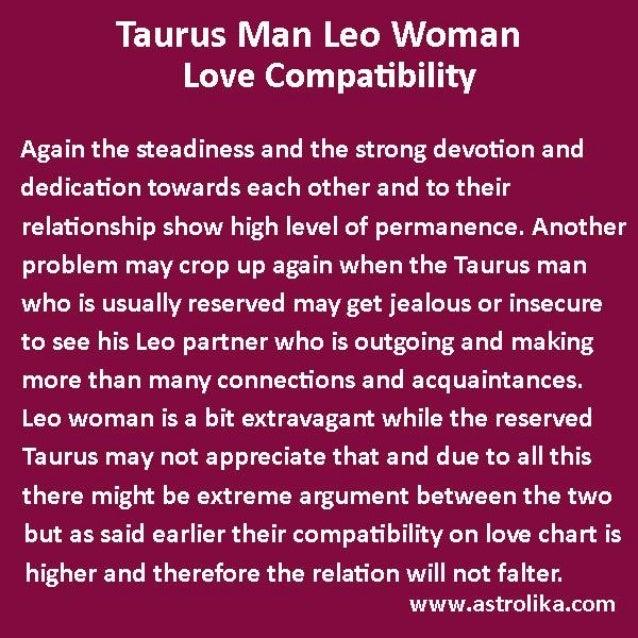 Taurus man-leo-woman