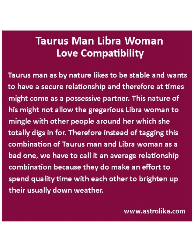 Difference between libra man and libra woman