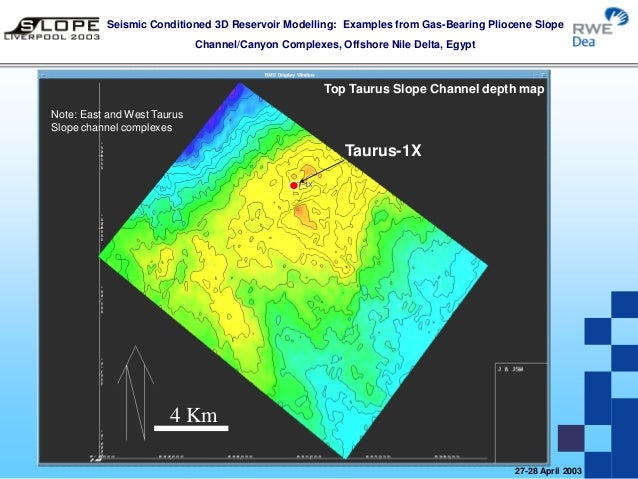 Taurus Libra North Idku Slope Channel D Seismic Modelling Egypt - Map of egypt 3d
