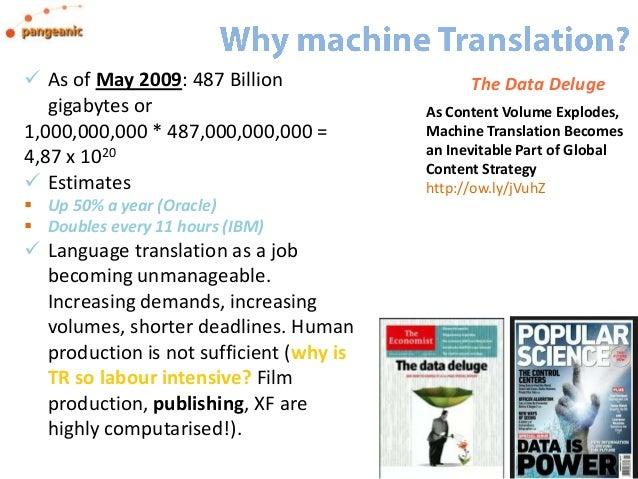 I Used To Be A Translator, Now I Run Machine Translation - TAUS #LocworldLondon 2013 Slide 2