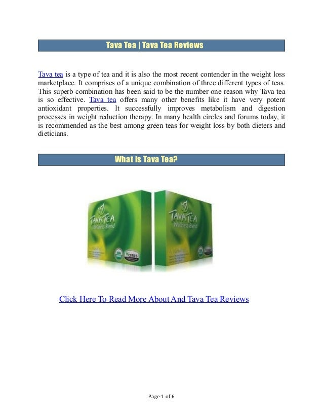 Tava Tea | Tava Tea ReviewsTava tea is a type of tea and it is also the most recent contender in the weight lossmarketplac...