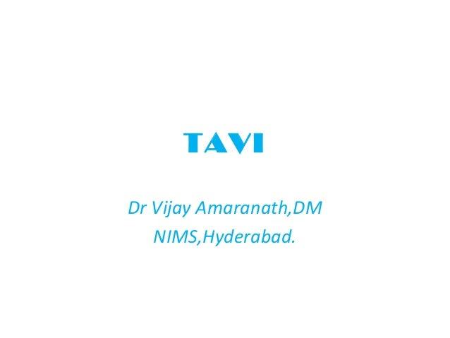 TAVIDr Vijay Amaranath,DM   NIMS,Hyderabad.