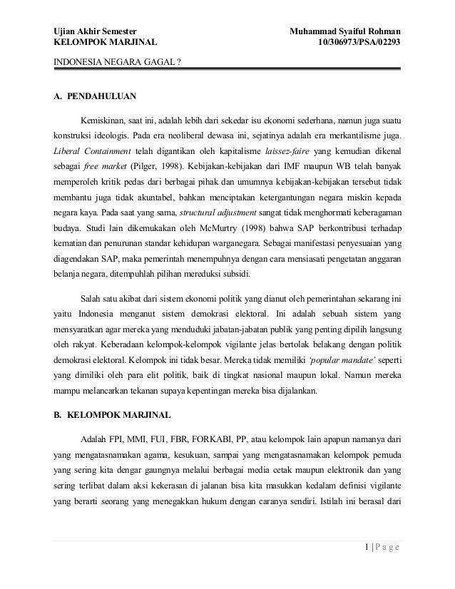 Ujian Akhir Semester                                            Muhammad Syaiful RohmanKELOMPOK MARJINAL                  ...