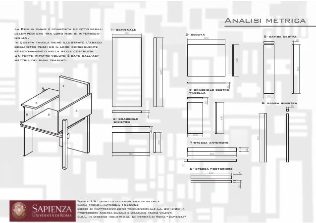 Analisi Quot Berlin Chair Quot G T Rietveld