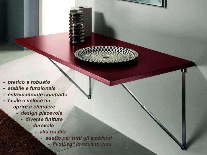 Il tavolo che scompare tavolo pieghevole a muro salvaspazio - Tavolo da lavoro pieghevole ...