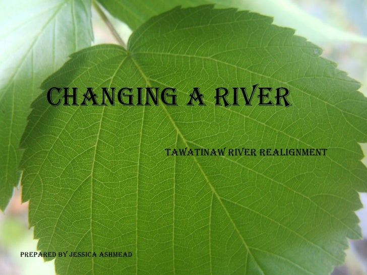 Changing a River Tawatinaw River Realignment  Prepared by Jessica Ashmead
