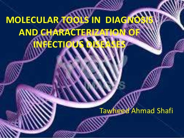 MOLECULAR TOOLS IN DIAGNOSIS  AND CHARACTERIZATION OF  INFECTIOUS DISEASES  Tawheed Ahmad Shafi