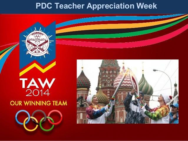 PDC Teacher Appreciation Week