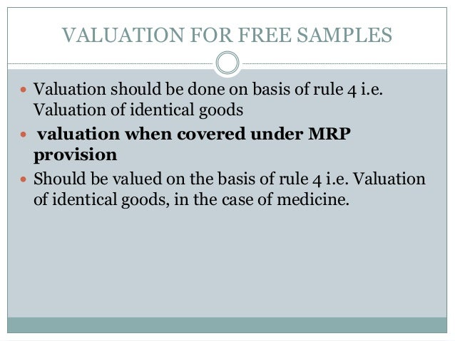 valuation rules of central excise
