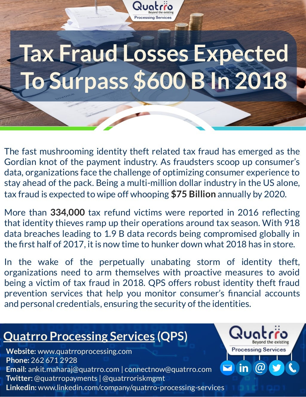 Tax Fraud Expected To Surpass $600B In 2018