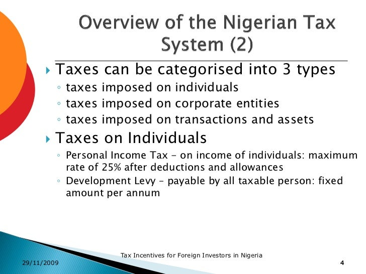 Nigeria - Taxation
