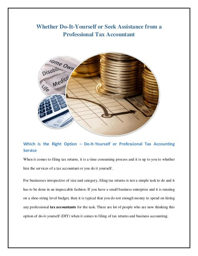 Benefits of professional tax accountant yorkshire accountancy 2 whether do it yourself solutioingenieria Image collections