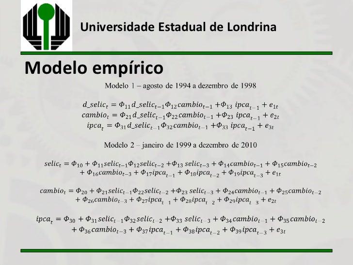 Universidade Estadual de LondrinaModelo empírico